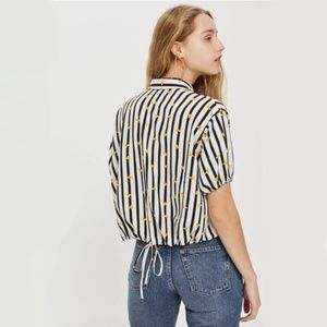 Topshop- Stripe bee shirt